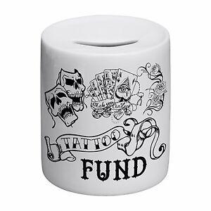 Tattoo-Fund-Novelty-Ceramic-Money-Box