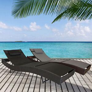 polyrattan gartenliege liegestuhl liege sonnenliege poly rattan strandliege neu ebay. Black Bedroom Furniture Sets. Home Design Ideas