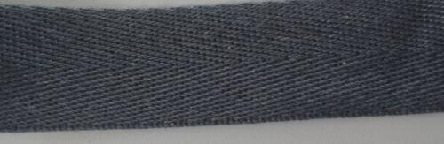 "25mm 1/"" HERRINGBONE Color COTTON Craft Bag strap DIY Belt webbing tape Twill"