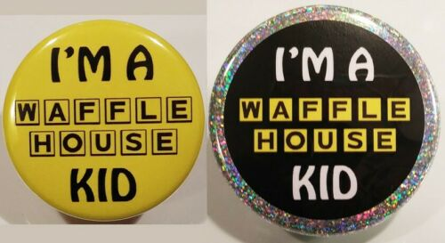 Waffle House PIN SET I/'m A WH Kid HOLOGRAM BUTTONS Fast Food Restaurant USA Rare