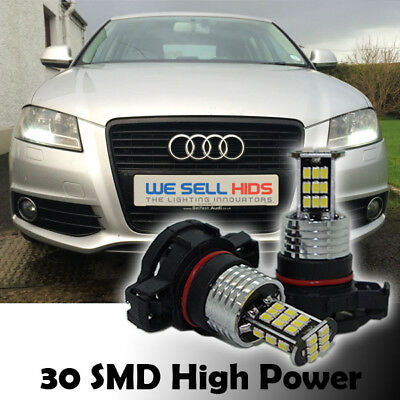2x LATEST 30SMD PS19W AUDI A3 LED WHITE DRL SIDELIGHT BULB H16 5202 PSX24W 9009