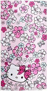 Hello-Kitty-Flora-Playa-Toalla-De-Bano-100-algodon-70cm-X-140cm-Character-World