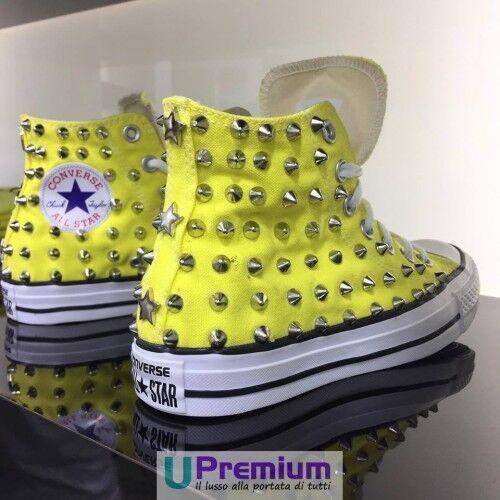 Borchiate Converse Doha Scarpe Gialle Borchia All Star prodotto Personalizzato qggCxnFIwH