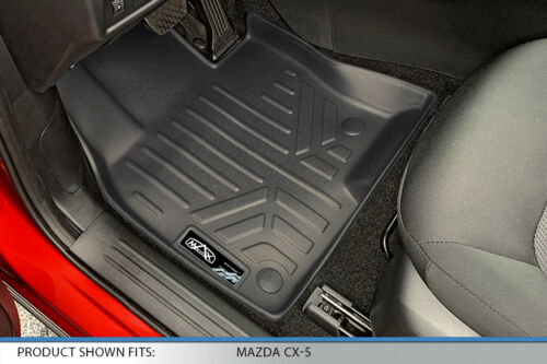SMARTLINER All Weather Floor Mats Black for Mazda CX-5 2017-2020