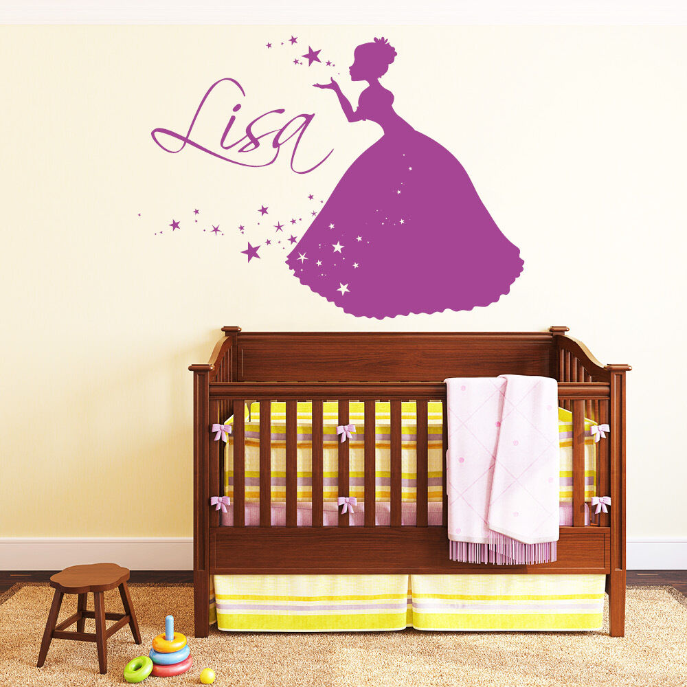 10550 Wandtattoo Loft Loft Loft Wandaufkleber Prinzessin  Wunschname Sterne Schloss Kleid | Bekannt für seine hervorragende Qualität  5eb8c5