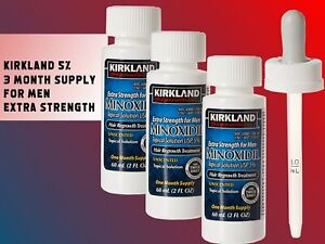 Kirkland-Minoxidil-Extra-Strength-Men-039-s-Hair-Regrowth-5-Solution-1-6-Months