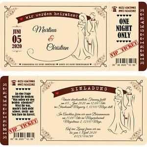 Das Bild Wird Geladen Einladungskarten Hochzeit Mit Abriss Coupon Vintage  Beige Braun