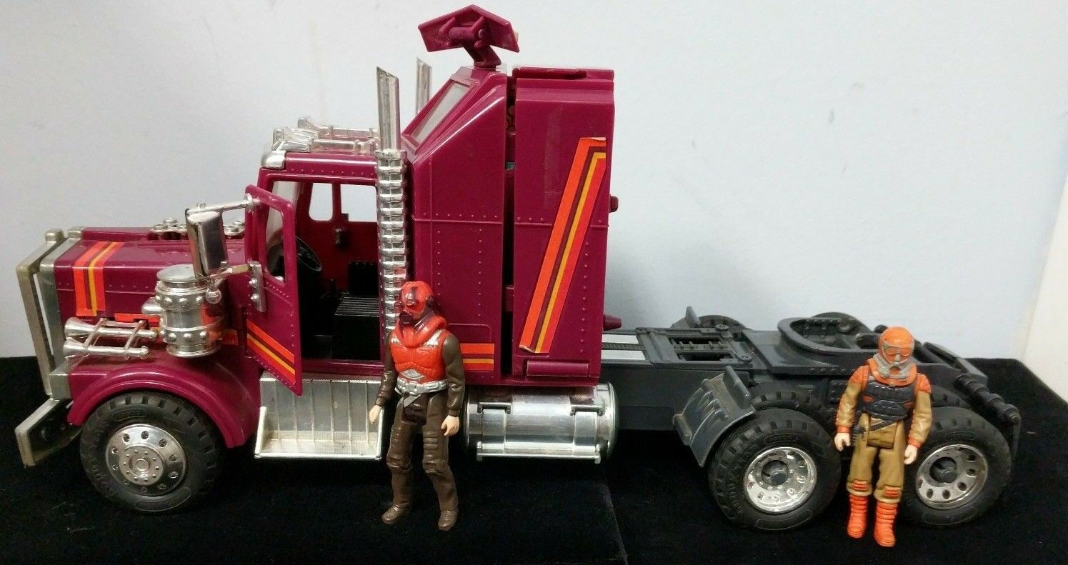 Vintage RARE Kenner M.A.S.K.1986 Rhino Tractor Rig W Both Drivers Figure C5-11