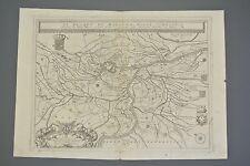 Coronelli rarissima incisione Ducato di Mantova 1690 fiume Po
