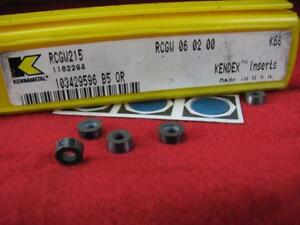 (5) Kennametal Rcgw215 Indexable Plaquettes Carbure 1162294 Kendex K68 Luxuriant In Design