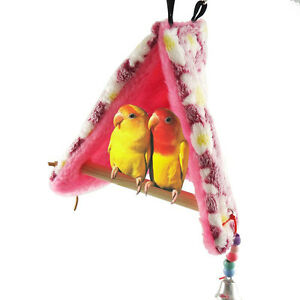 Bird-Parrot-Winter-Warm-Hammock-Perch-Tent-Hanging-Toys-Bed-Hut-Cave-Cage-Bunk