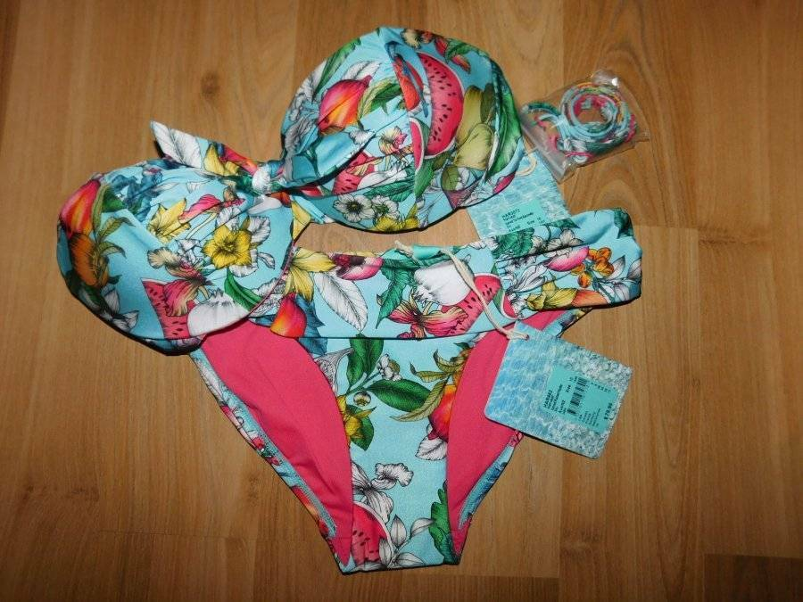 NWT ISOLA BY MEGAN GALEHARVEST HIPSTER TIE FRONT BIKINI SET SIZE 8 RRP  205