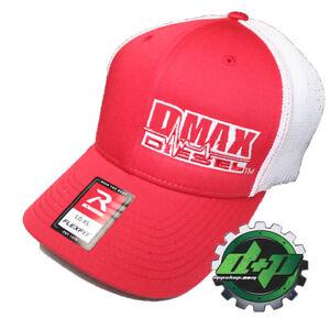 Details about Duramax diesel Richardson 110 DMAX truck hat RED Flexfit  white mesh back L/XL