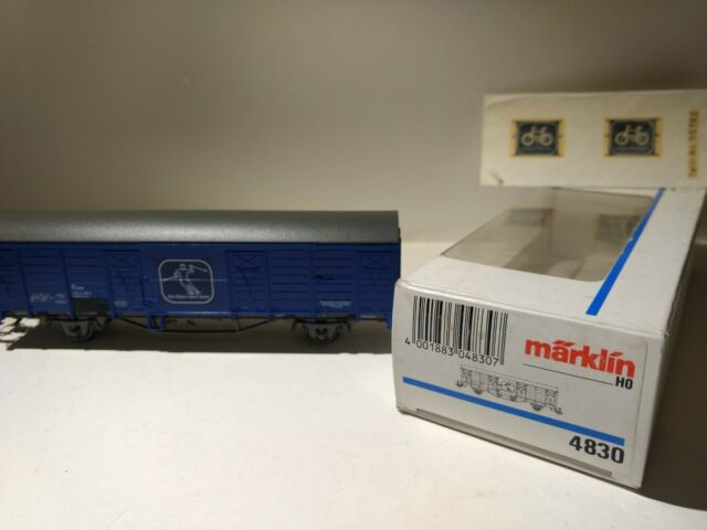 Güterwagen Die Bahn fährt Ski OVP MÄRKLIN 4830 HO #A38396 Ged ÖBB