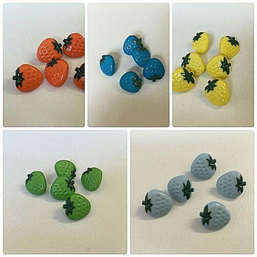 Fresa Botones De 10 Mm x 5 por £ 1.99 Elección De Colores