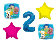 Party Supplies… Bubble Guppies Balloon Bouquet 2nd Birthday 5 pcs