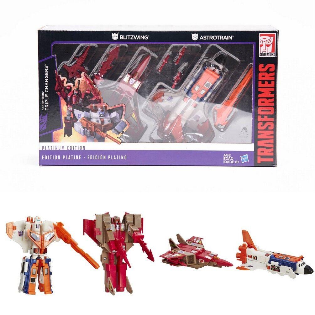 los nuevos estilos calientes Transformers Hasbro g1 Reissue Platinum Edition Astrojorain Blitzwing juguetes juguetes juguetes  saludable