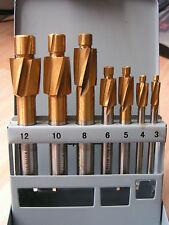 7pc TIN rivestite lamatura metrica set M3-M12