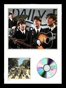 Beatles-Limited-Edition-Framed-Photo-amp-CD-Presentation-Abbey-Road