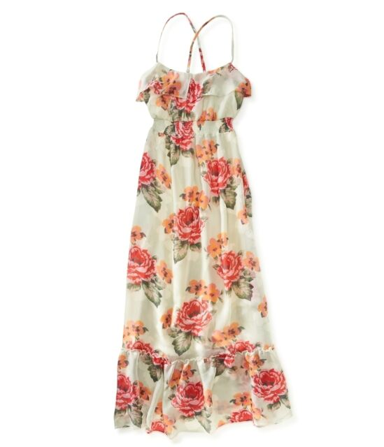 AEROPOSTALE womens girls Flower Maxi Dress Long summer S,M,L,XL,2XL NEW $68.50
