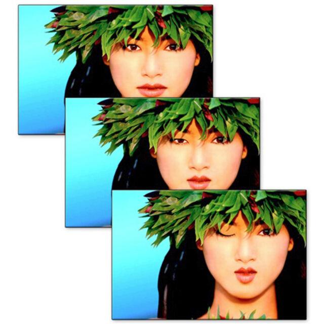 Hawaiian Winking Girl Postcard Animated Flip Lenticular #PC4X6-802#