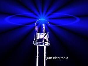 10 Stück Leuchtdioden NEU //  40° Abstrahlwinkel Led 3mm BLAU 1200mcd max