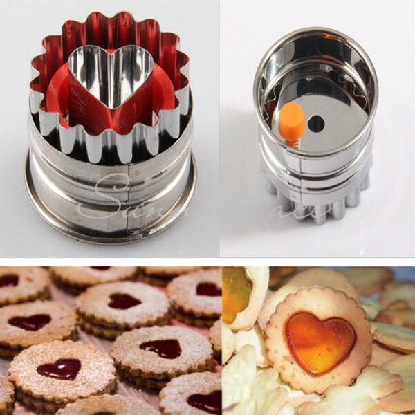 Useful Home Cake Biscuit Mold Sugarcraft DIY Mould Tool Heart Shape Brand New