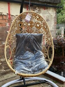 Wicker Type Hanging Egg Chair (not B&M Or Aldi) | eBay
