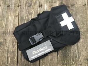 Web-tex-TRAUMA-POUCH-BLACK-Security-Police-Tactical-First-Aid-Medic-PLCE-Kit-Bag
