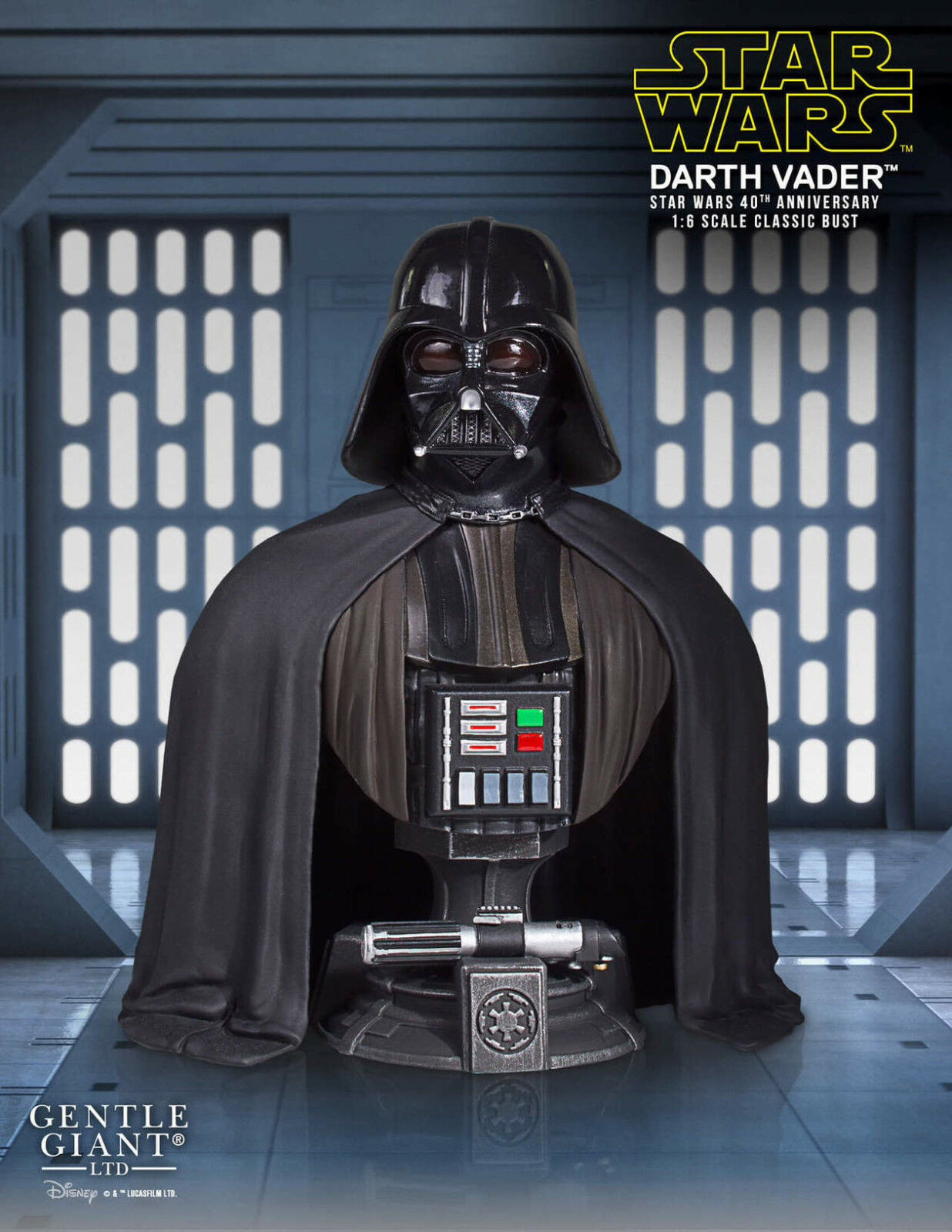 SDCC 1 6 Darth Vader Star Wars 40th Anniversary Classic Bust