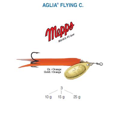// Noir Gold Black Cuiller MEPPS AGLIA FLYING C  25 g Or