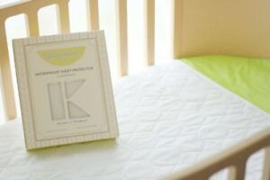 Kidz-Kiss-Waterproof-Quilted-Sheet-Protector-Under-Pad-Fits-Cot-amp-Toddler-Bed