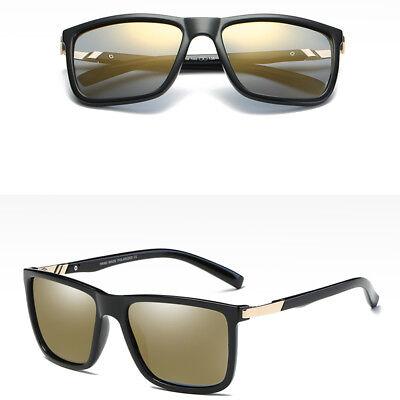 Fashion Square Frame Polarized Sunglasses Driving Mens Designer Retro Eyewear
