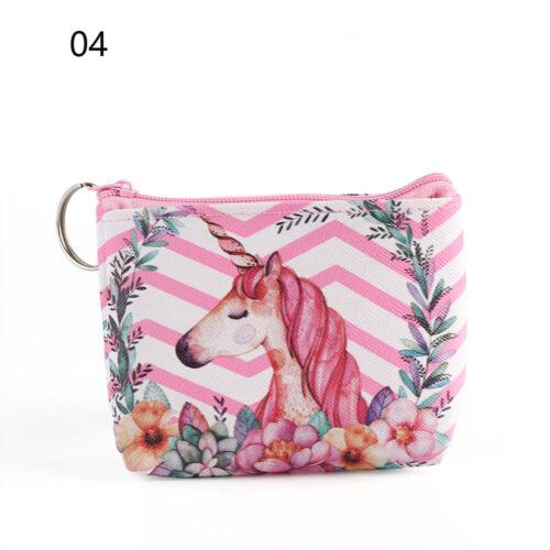 portemonnaie gedruckt einhorn geldbörse reißverschluss münze rucksack mini