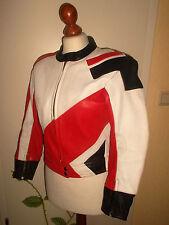 vintage EUROX Motorrad Lederjacke motorcycle leather oldschool jacket 42