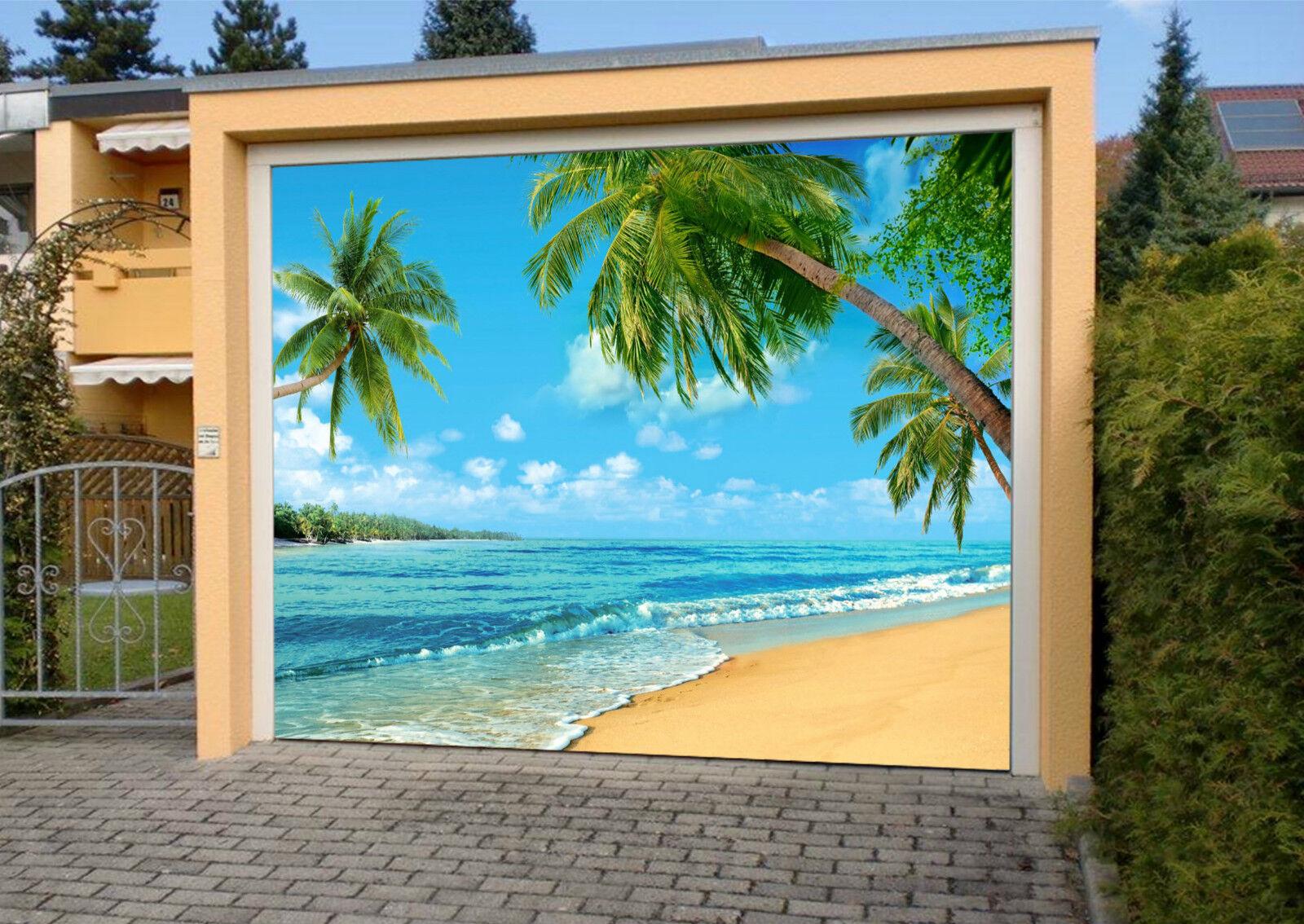 3D Spiaggia 510 Garage Porta Stampe Parete Decorazione Murale AJ WALLPAPER IT