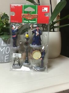 lemax coventry cove village figurine Christmas band set of 5 (1 Creepy Drummer)