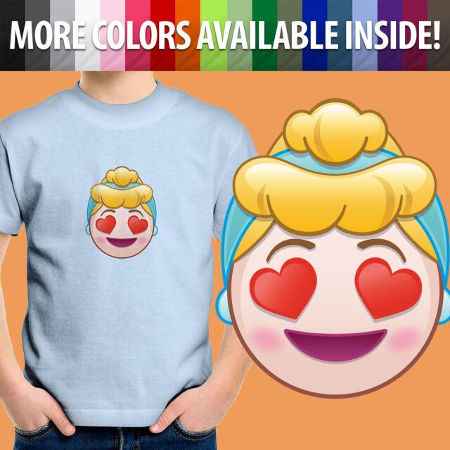 Disney Princess Cinderella Vogue T-shirt Unisex Boys Girls Kids BirthdayTop  824