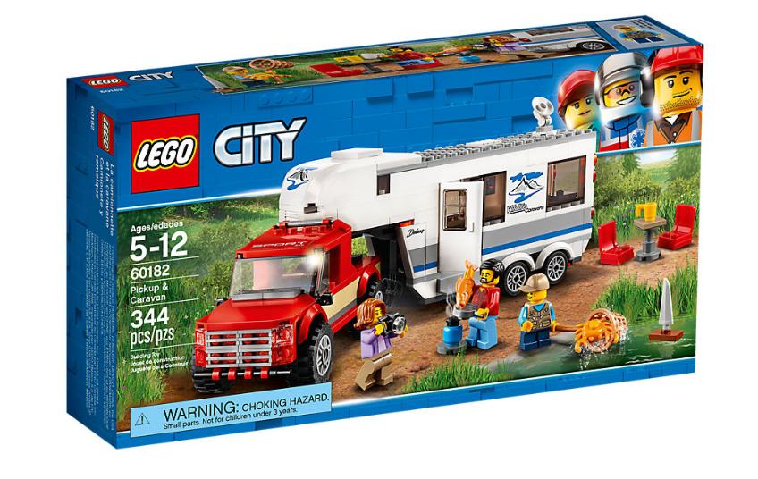 LEGO CITY CAMIONETA Y CARAVANA 60182 CAMPING VACACIONES NEW