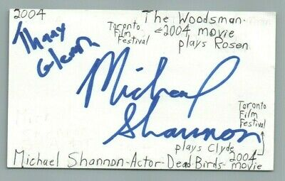 Search For Flights Michael Shannon Actor Dead Birds Woodsman Movie Autographed Signed Index Card Let Our Commodities Go To The World Autographs-original Movies