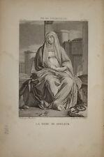 Stampa antica Madre dei Dolori Maria Madonna Philippe de Champeigne old print