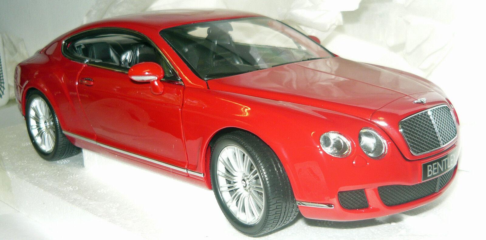 Minichamps 100139620, Bentley Continental GT 2008 rouge, 1 18, NEU&OVP