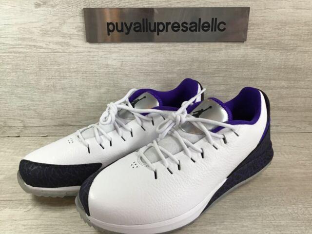 Men's Air Jordan ADG Spikeless Golf Shoes AR7995-101 White/Dark Concord Size 8.5