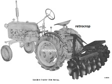 Ih Mccormick Farmall Cub 28 A Tractor Lift Disk Harrow Owners Parts Manual