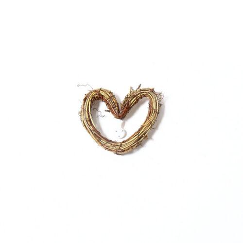 Retro Wicker Garland Heart Ring Wreath Rattan Home Wall Hanging Décor Ornament