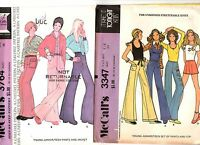 2 Mccall's Sewing Patterns Teen Girls Pants Top Jacket 3347 3764 5/6 Uncut