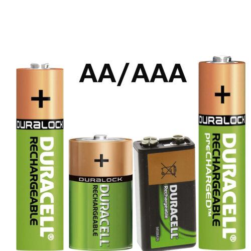 Orginal Duracell verschiedene AKKUS/Akku Duracell AUFLADBAR Battery lose NEU