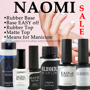 NAOMI-Rubber-BASE-TOP-Coat-Matte-No-Wipe-Ultrabond-Cleanser-GEL-POLISH-OIL
