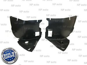 FRONT LEFT AND RIGHT WHEEL ARCH SIDE INNER SPLASH GUARD FENDER SHIELD BMW E46