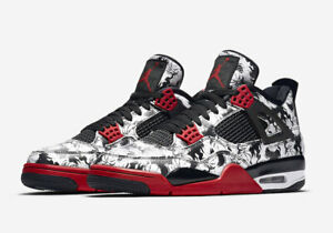 Detalles de Nike AIR Jordan 4 retro tattoo 23 Red White Black Jumpman EU 47,5 US 13